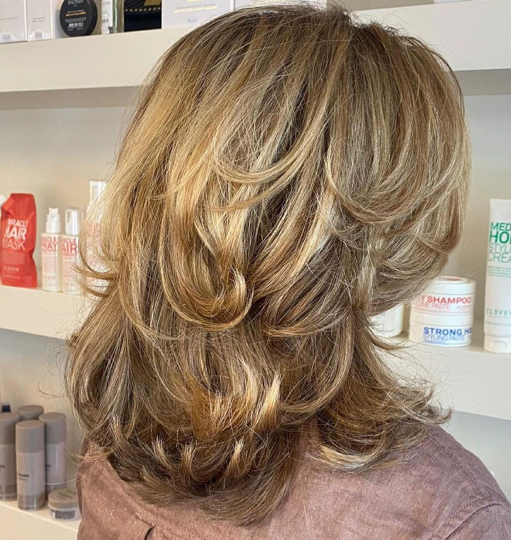 Fancy Mid-Length Layered Hairstyle