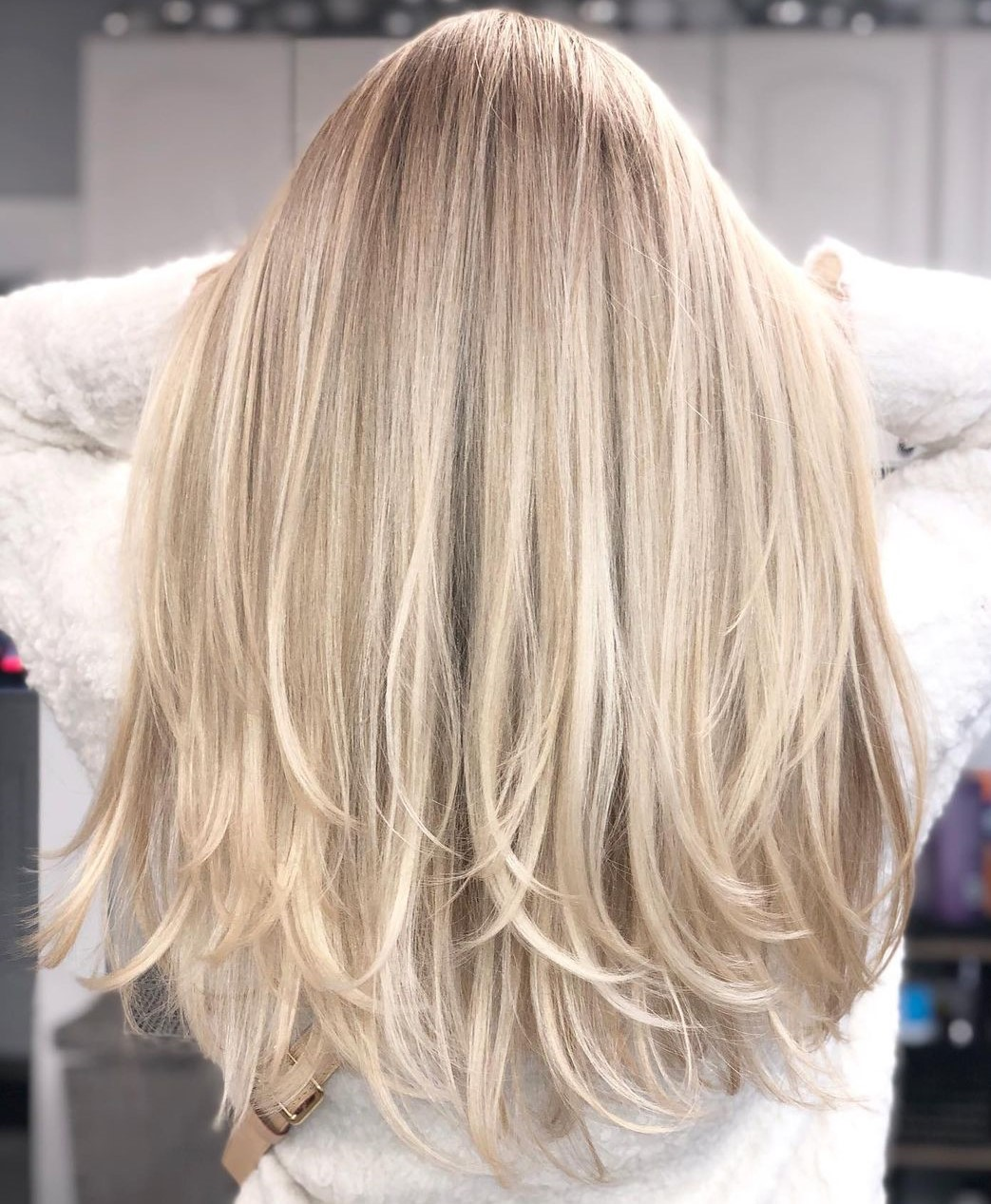 Long Haircut with Layered Ends