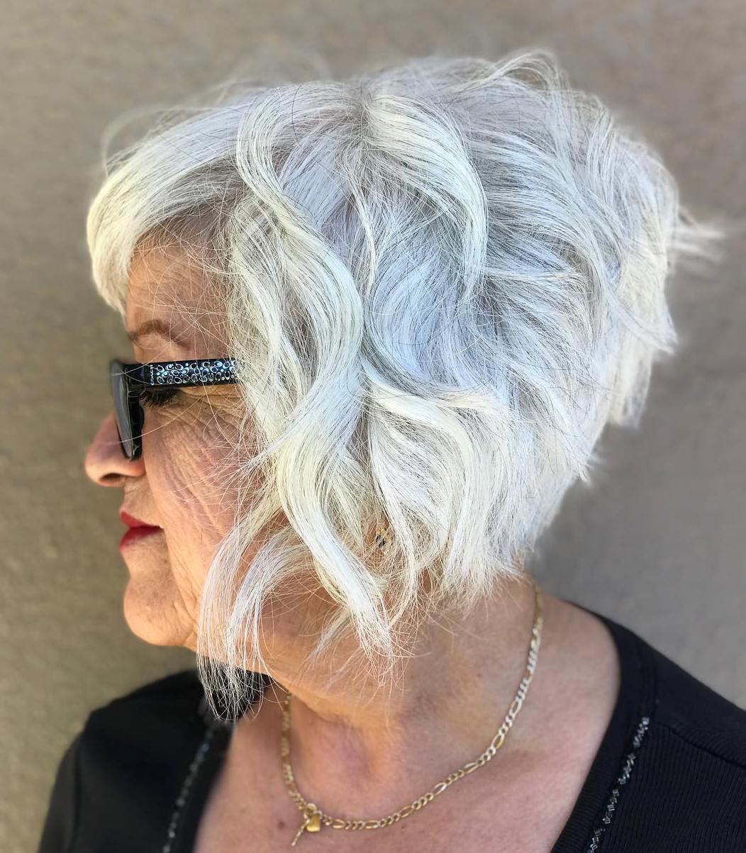 White Pixie Bob for Women Over 70