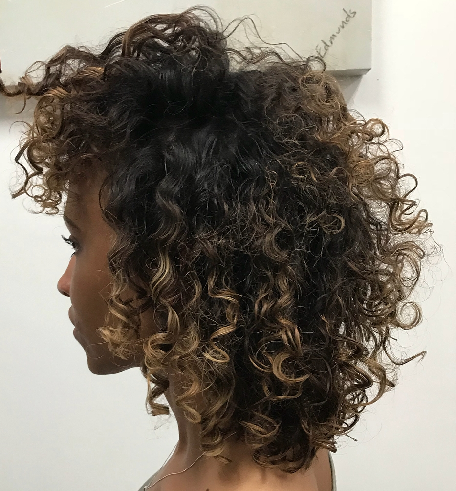 African American Natural Ombre Curls