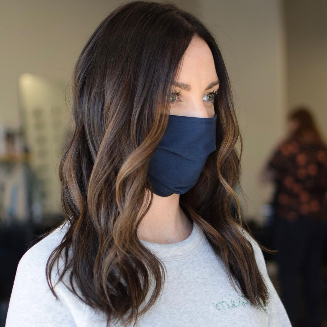 Dark Hair Color with Subtle Highlights