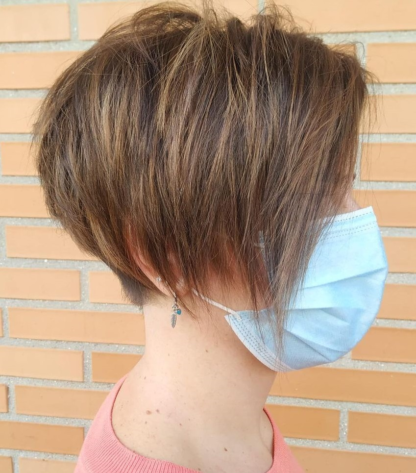 Long Textured Pixie Haircut for Fine Hair