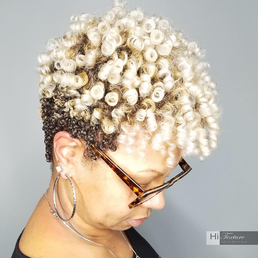 Blonde Natural Undercut Hairstyle