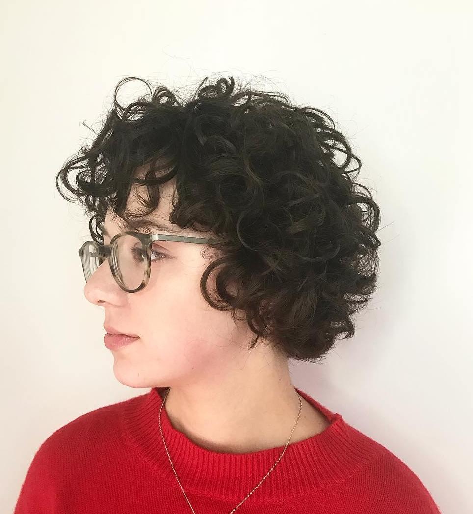 Wavy Bob Hairstyle with Bangs