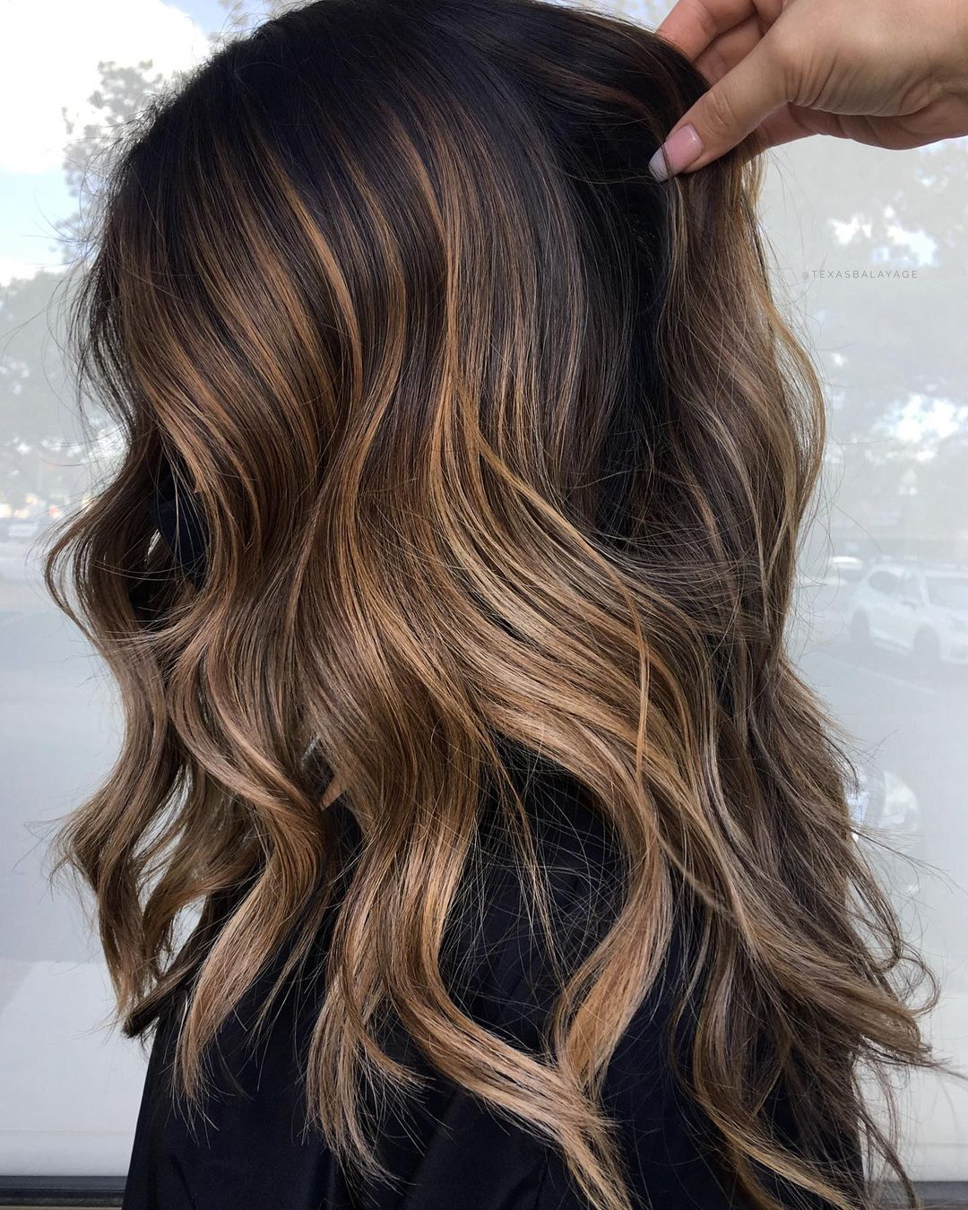 Subtle Caramel Highlights for Brunette Hair