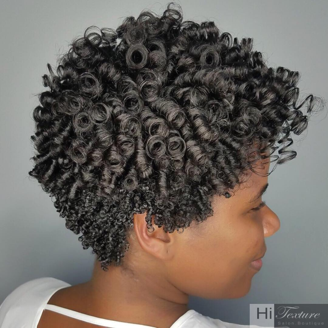 Short Natural Rod Set Curls