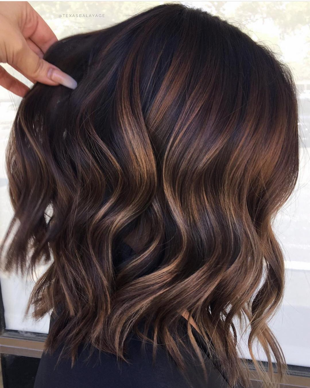 Dark Brown Hair Color with Babylights