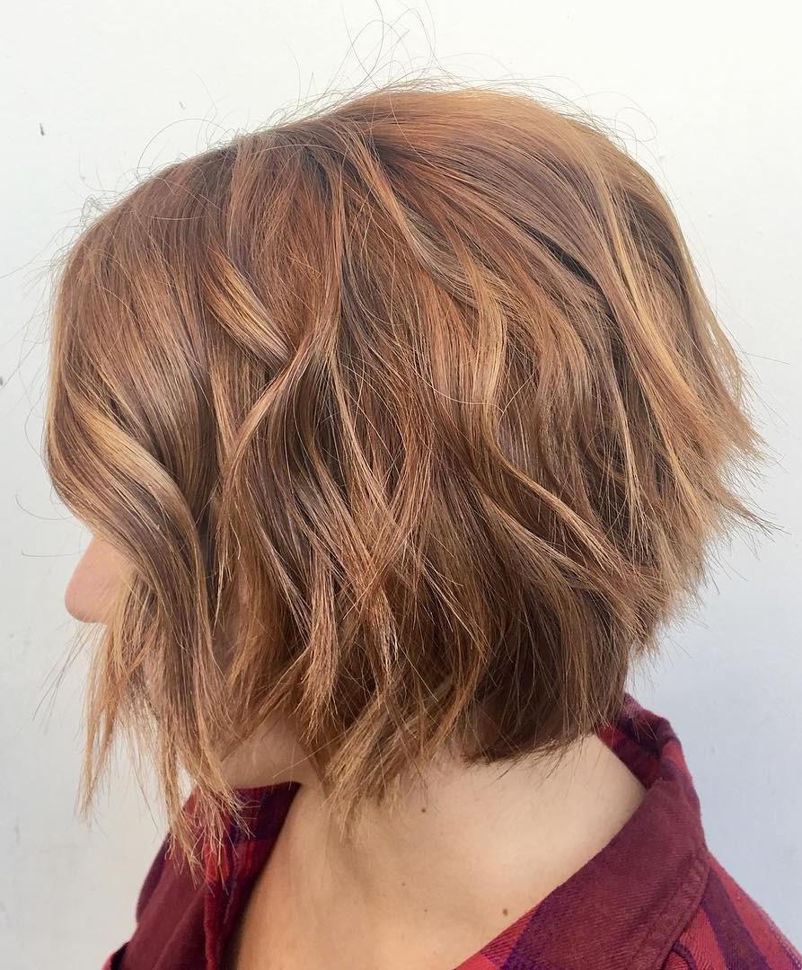 Layered Choppy Bob Hairstyle