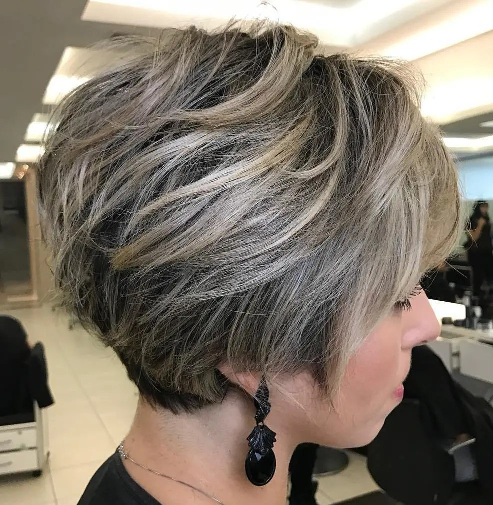 Long Tapered Ash Blonde Pixie