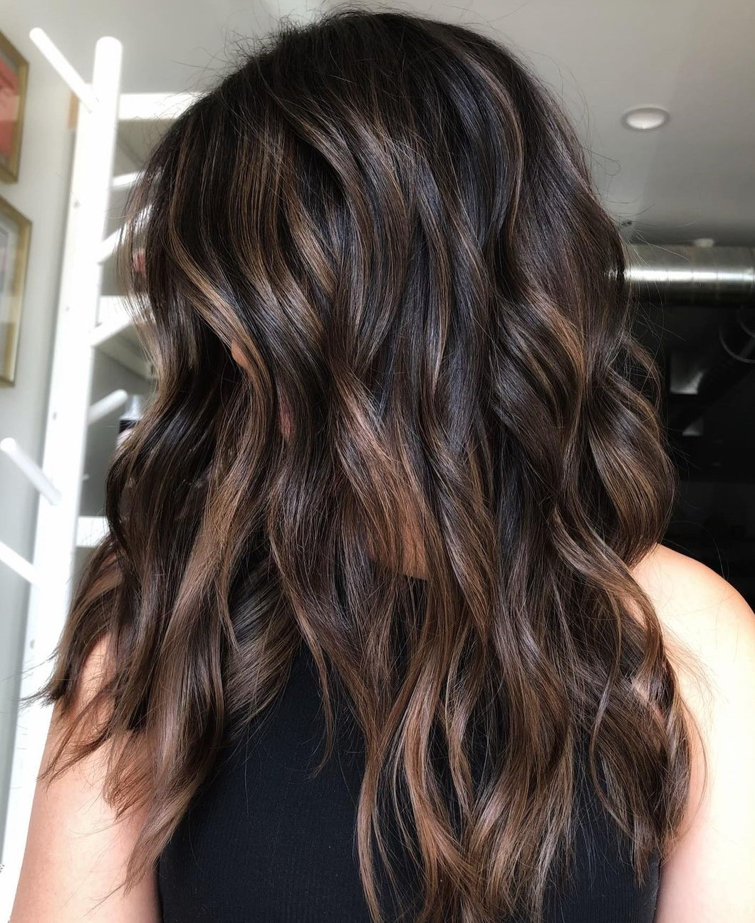 Sun-Kissed Highlights for Brown Hair