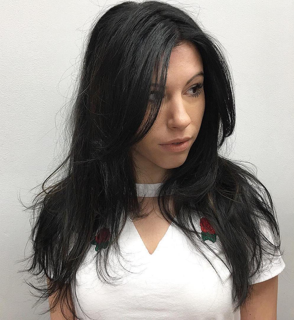 Long Razored Haircut for Straight Hair