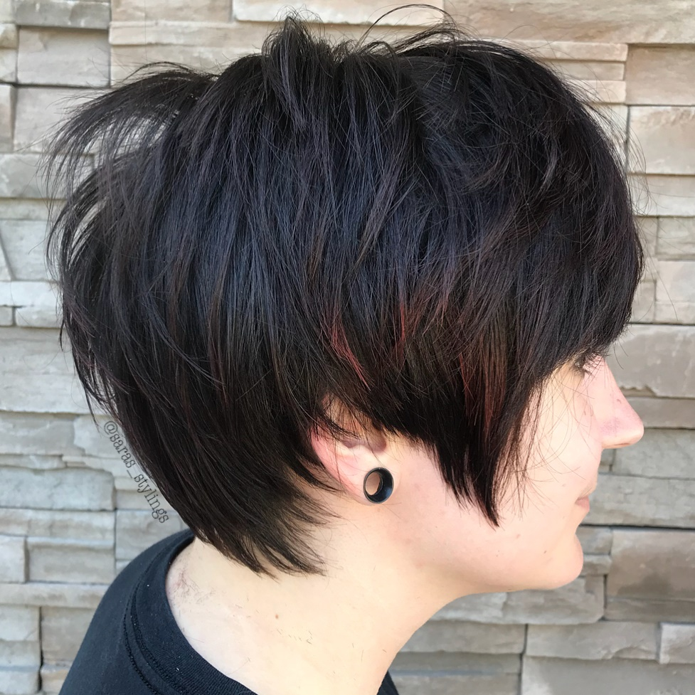 Dark Brown Feathered Pixie