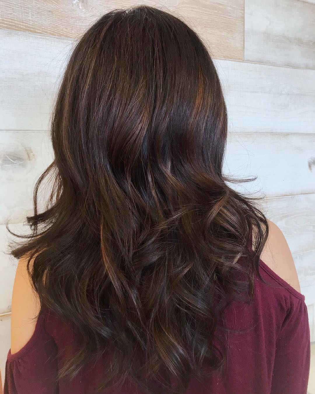 Partial Highlights on Dark Brown hair