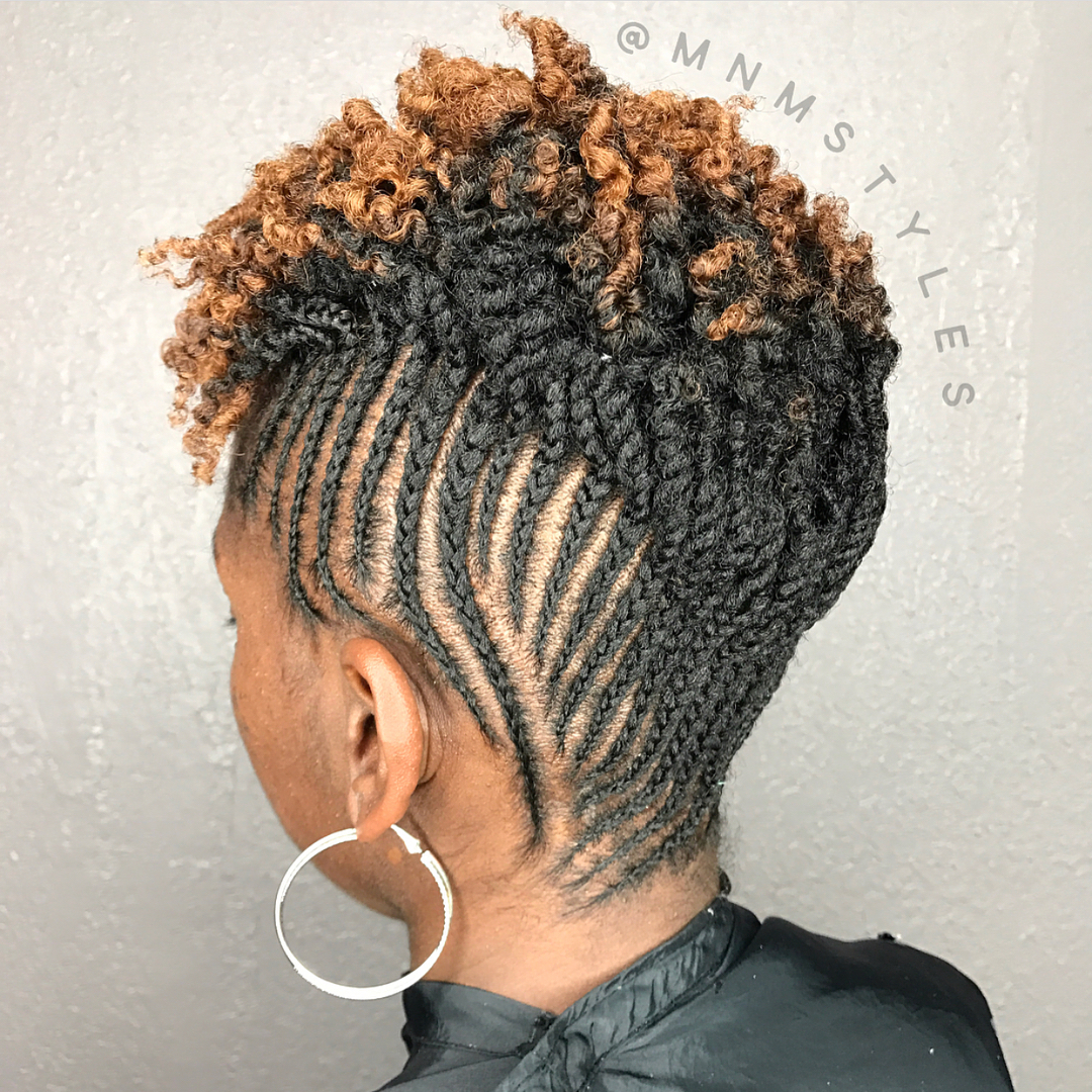 Short Upswept Crochet Braids
