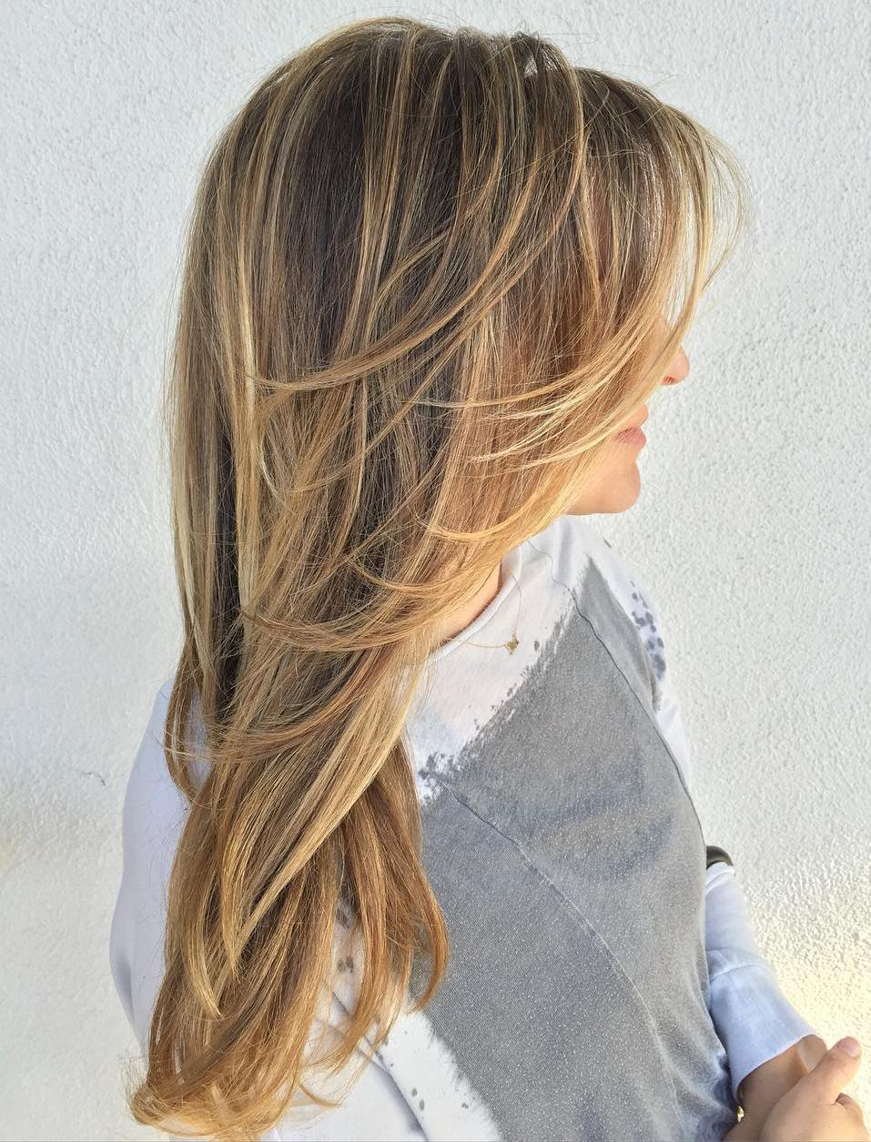 Long Effortless Haircut with Daring Layers