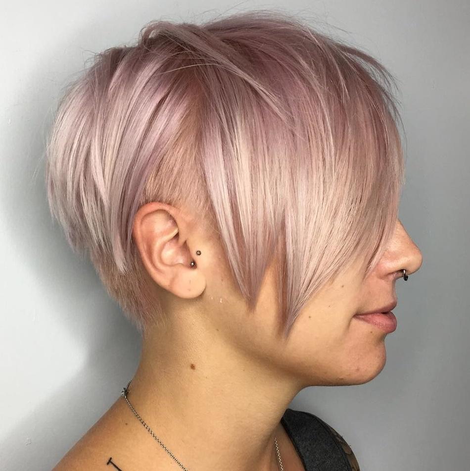 Pastel Pink Undercut Pixie