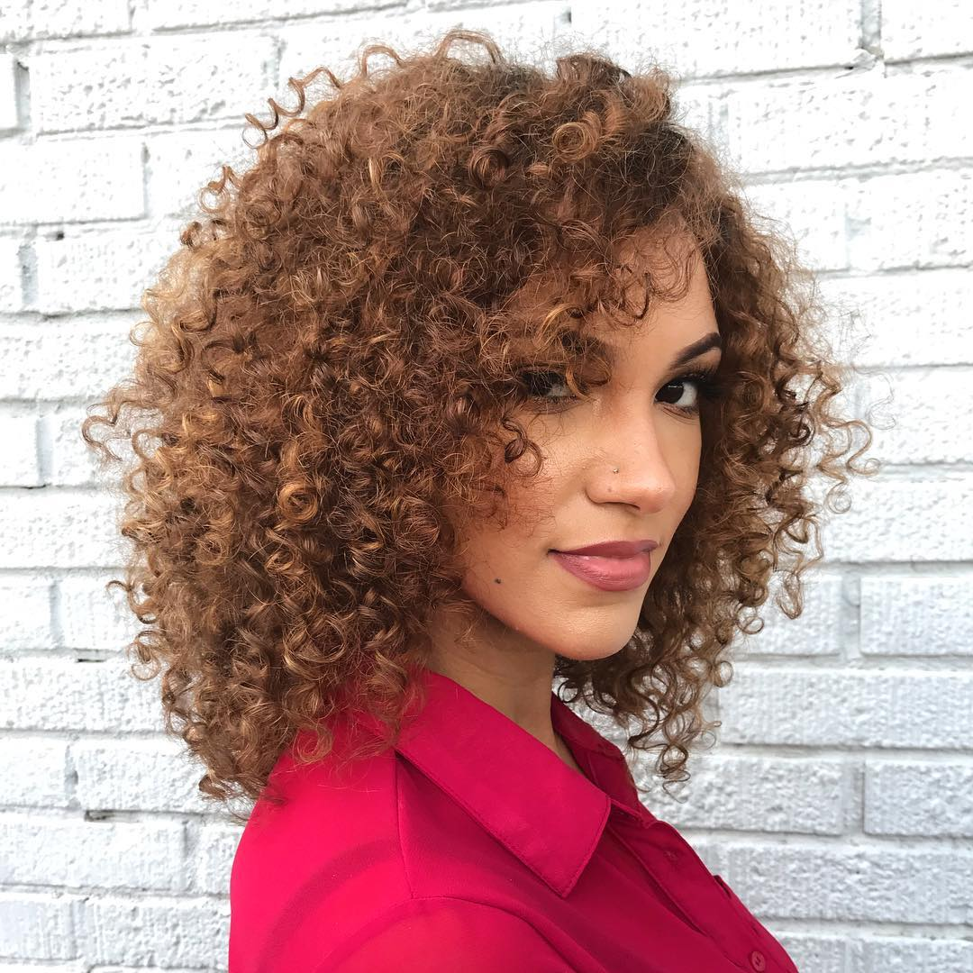 Medium Hairstyles For Curly Hair Girls 37