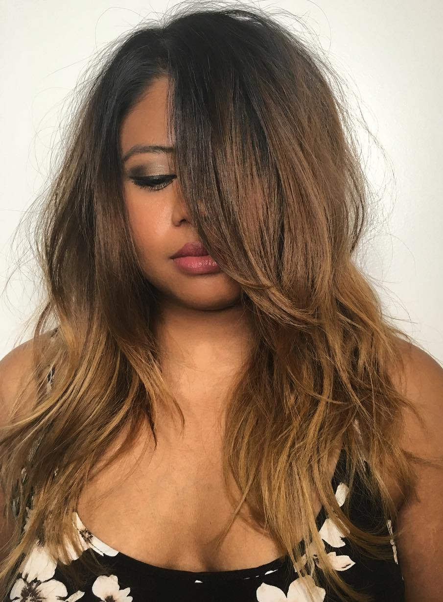 Long Cut with Layers for Slightly Curly Hair