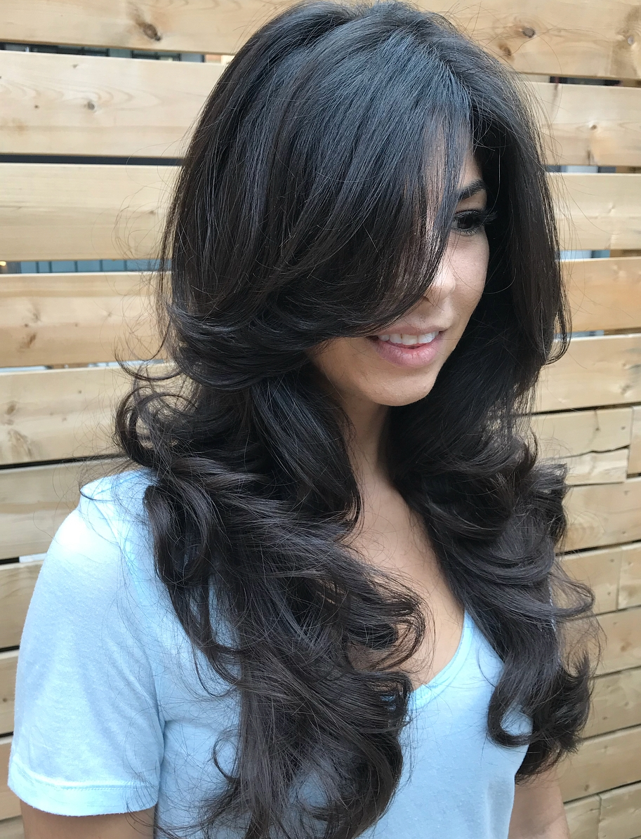 Long Curly Hairstyle with Layers