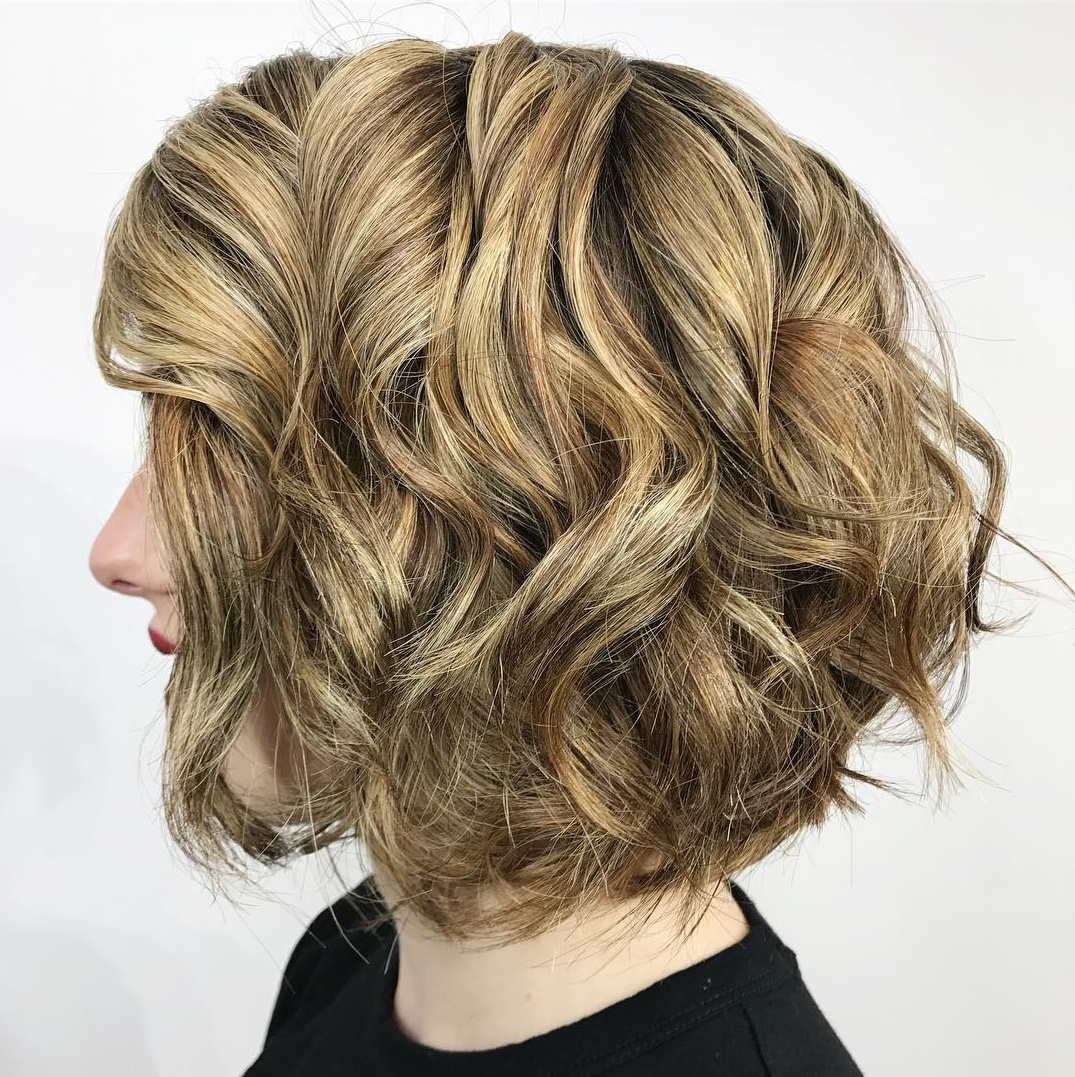 Neat Curly Bob Haircut