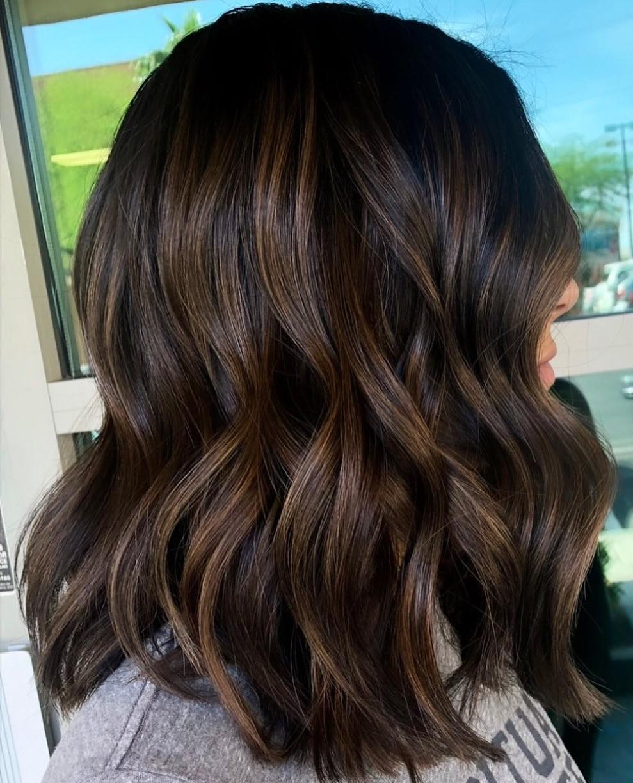 Brown Highlights on Dark Hair