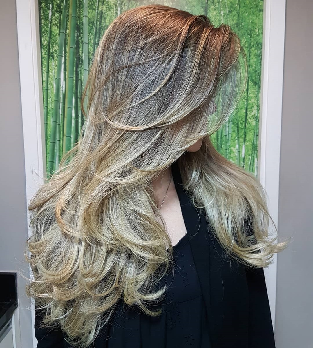 Long Blonde Balayage Hair with Layers