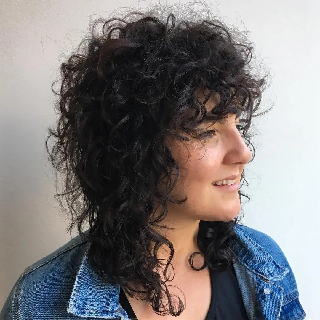 Messy Mullet for Curly Hair
