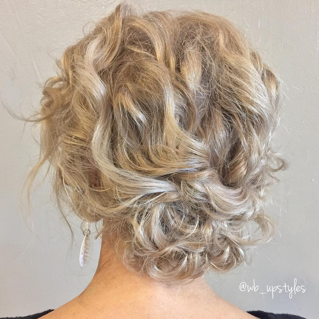 Elegant Messy Curly Low Bun