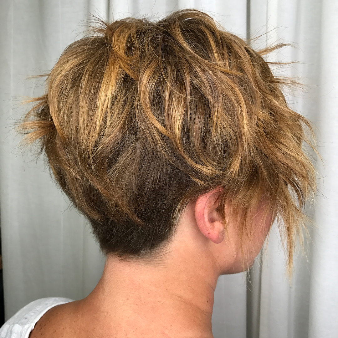 Long Tapered Pixie for Wavy Hair