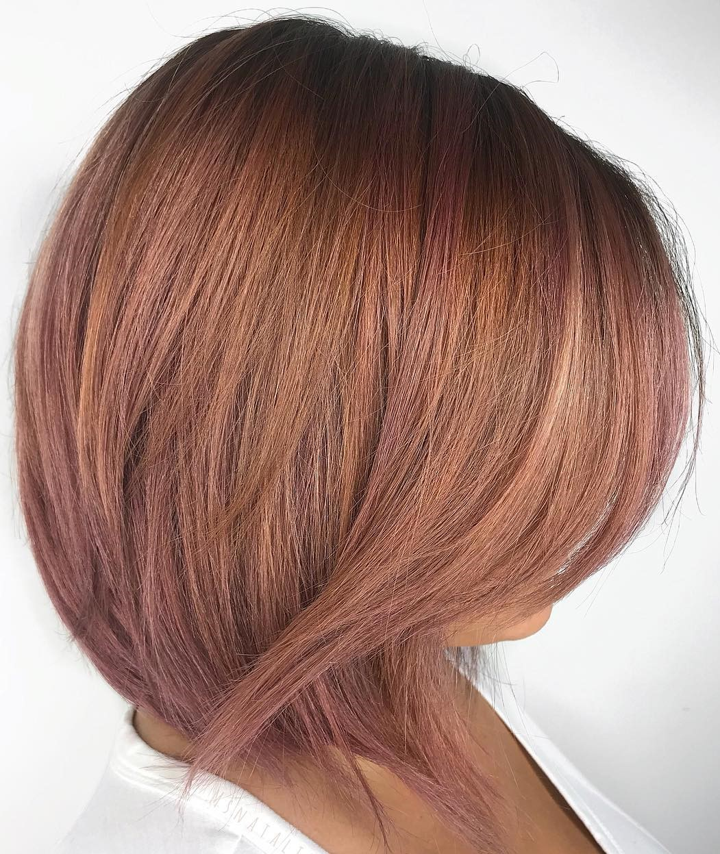 Layered Rose Gold Bob
