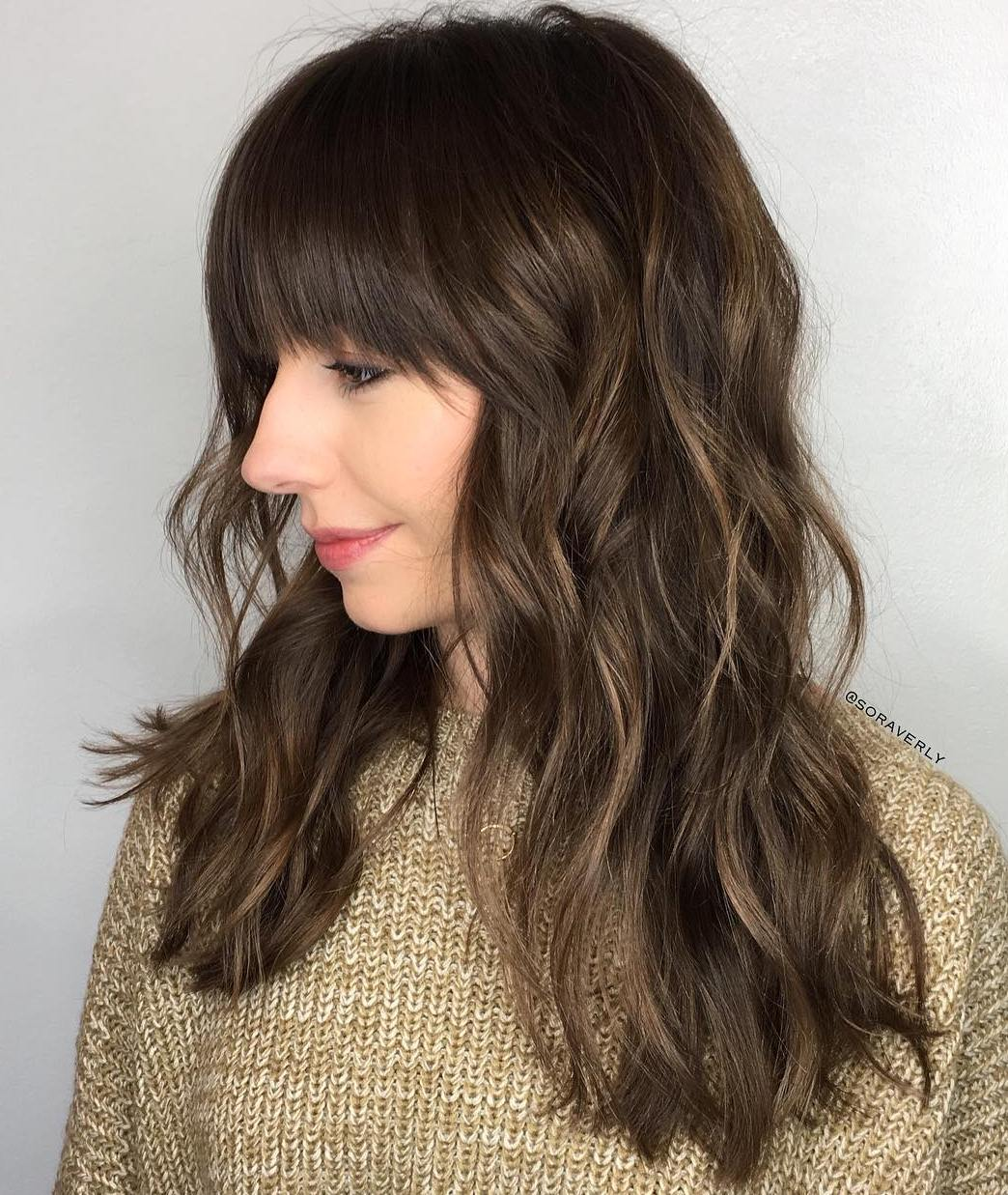 Long Wavy Hair with Front Bangs