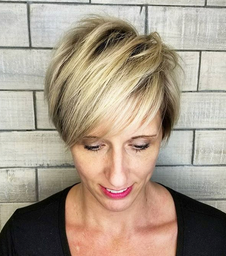 Fun Blonde Pixie