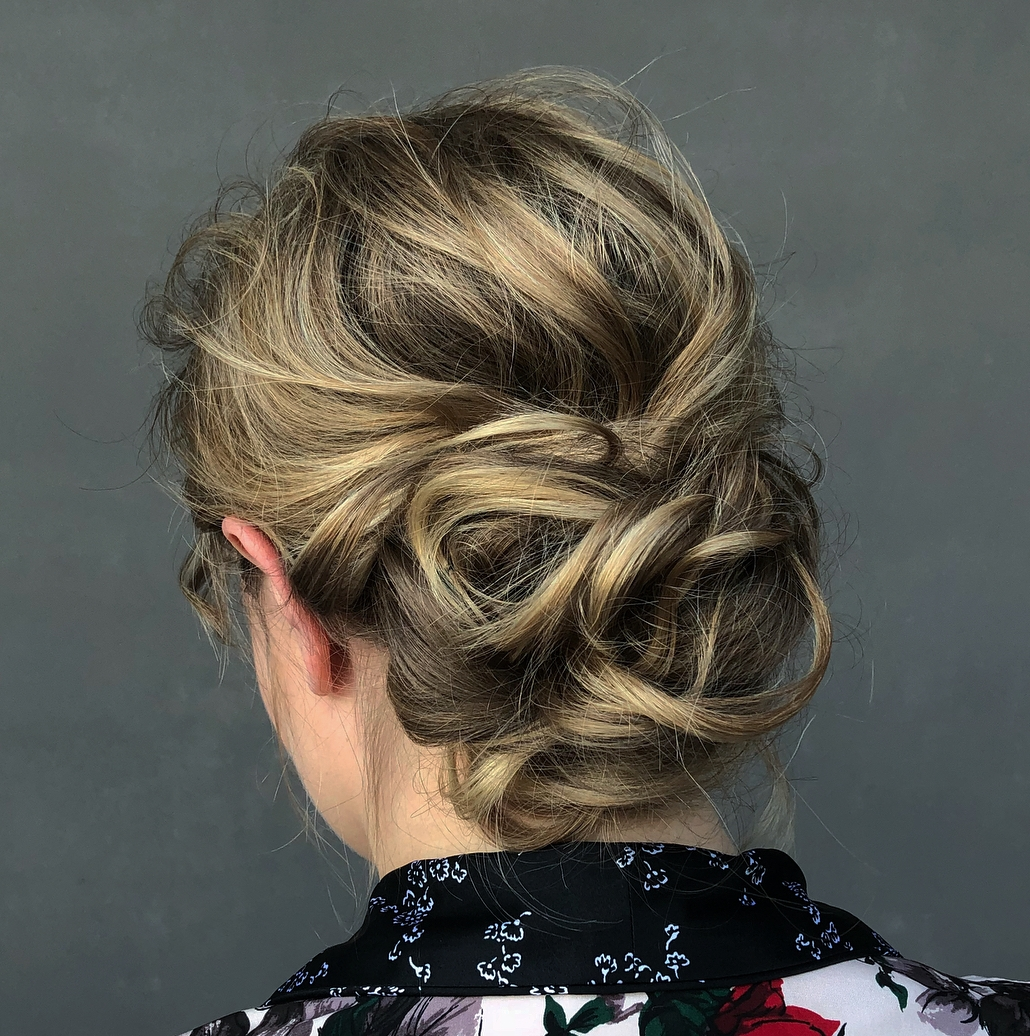 Loose Deconstructed Updo