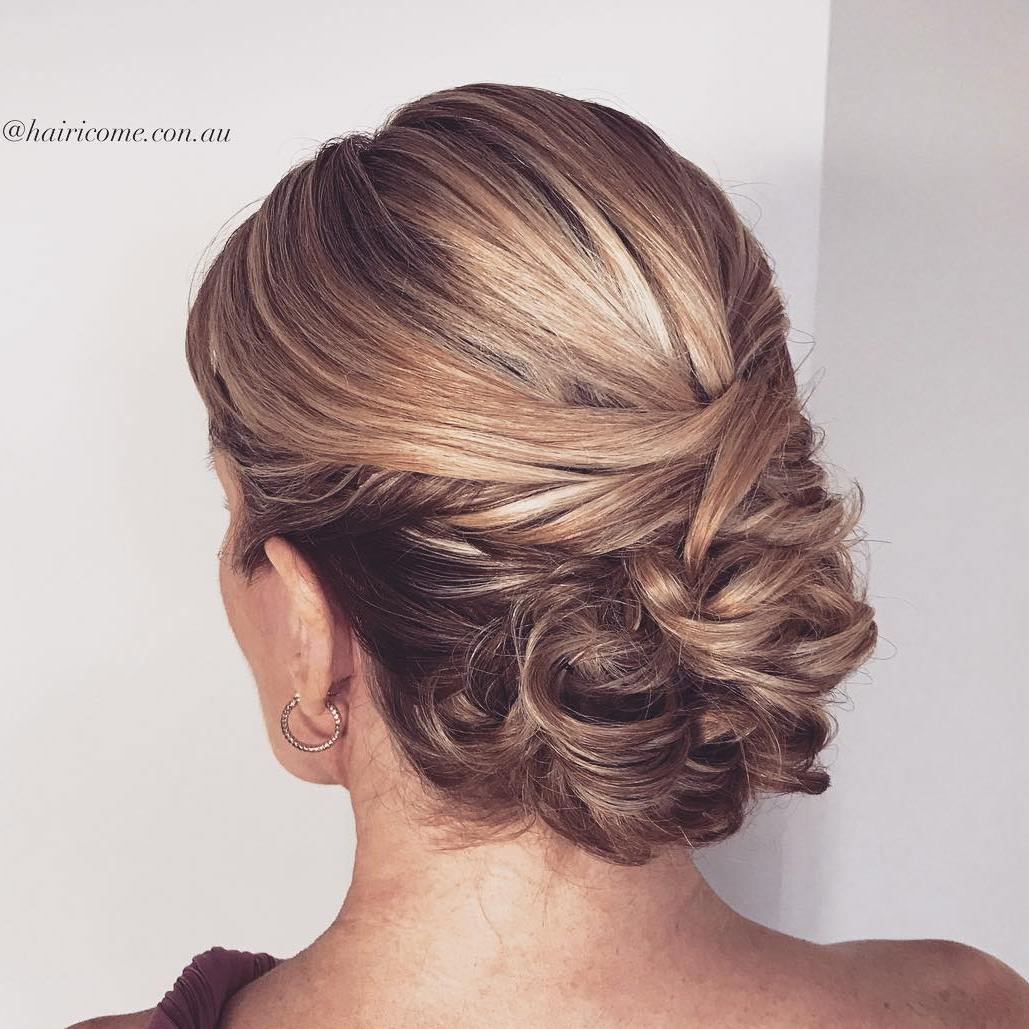 Curly Lacy Wedding Updo