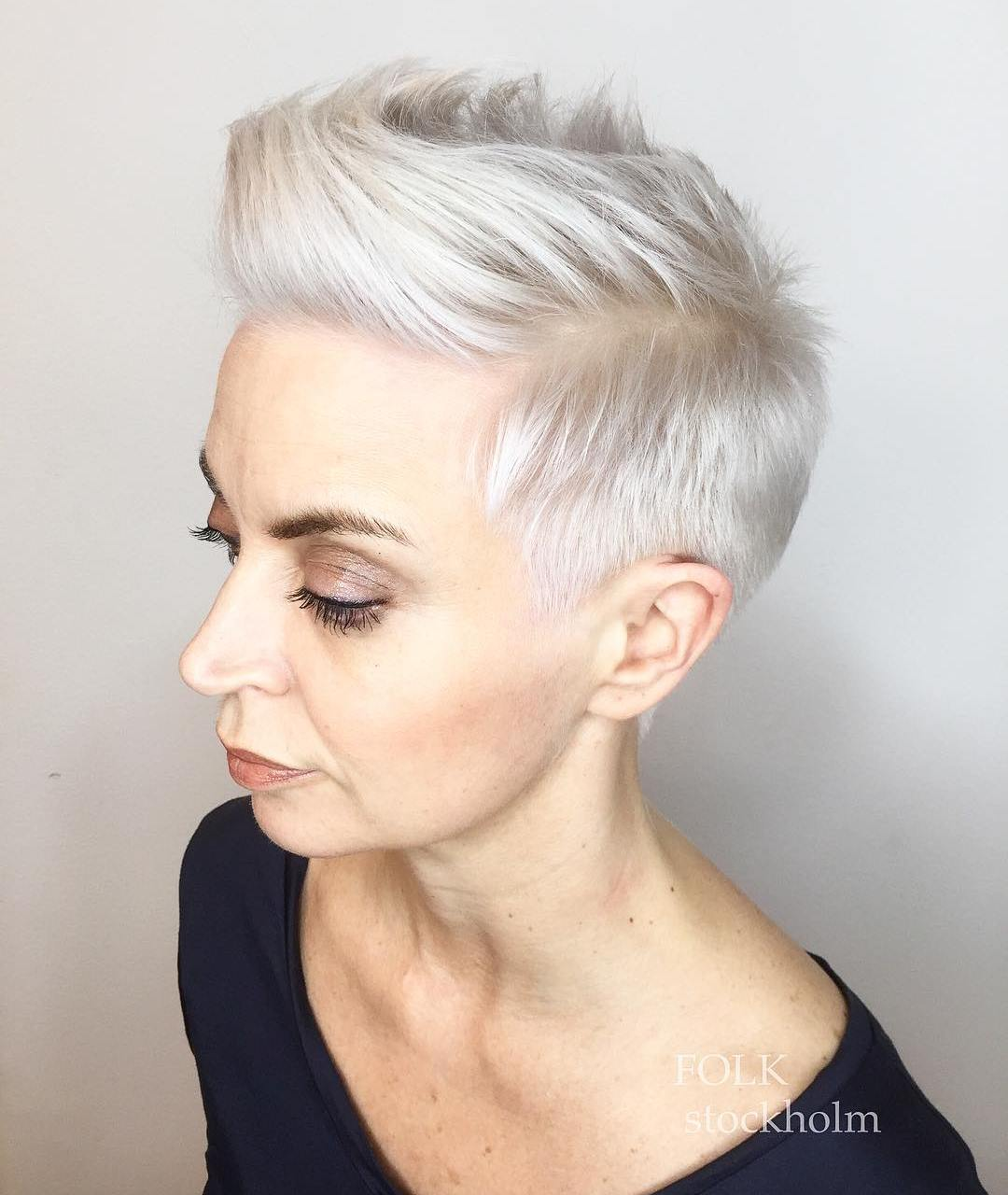 Bold Buzz Cut with Choppy Top