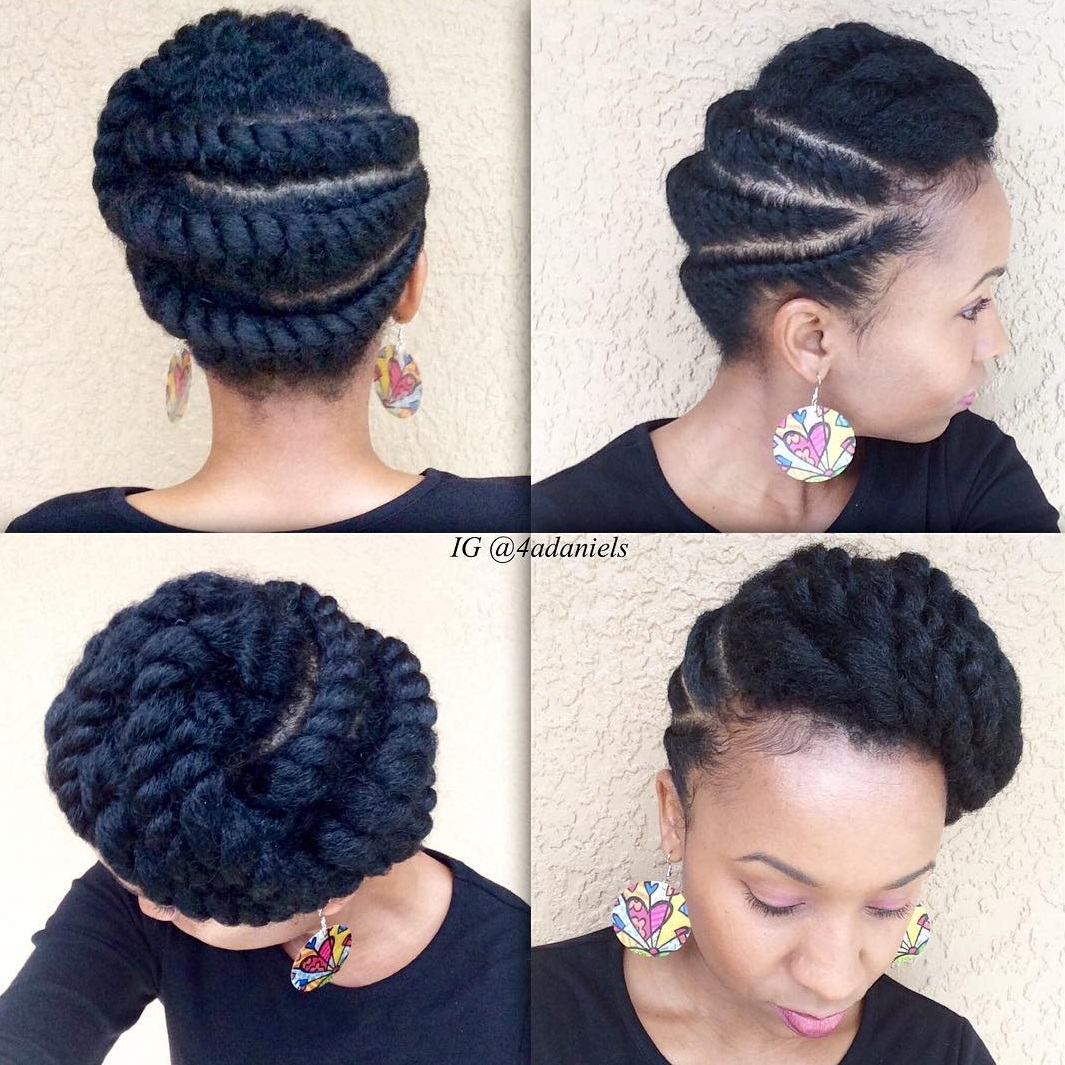 Updo with Chunky Flat Twists