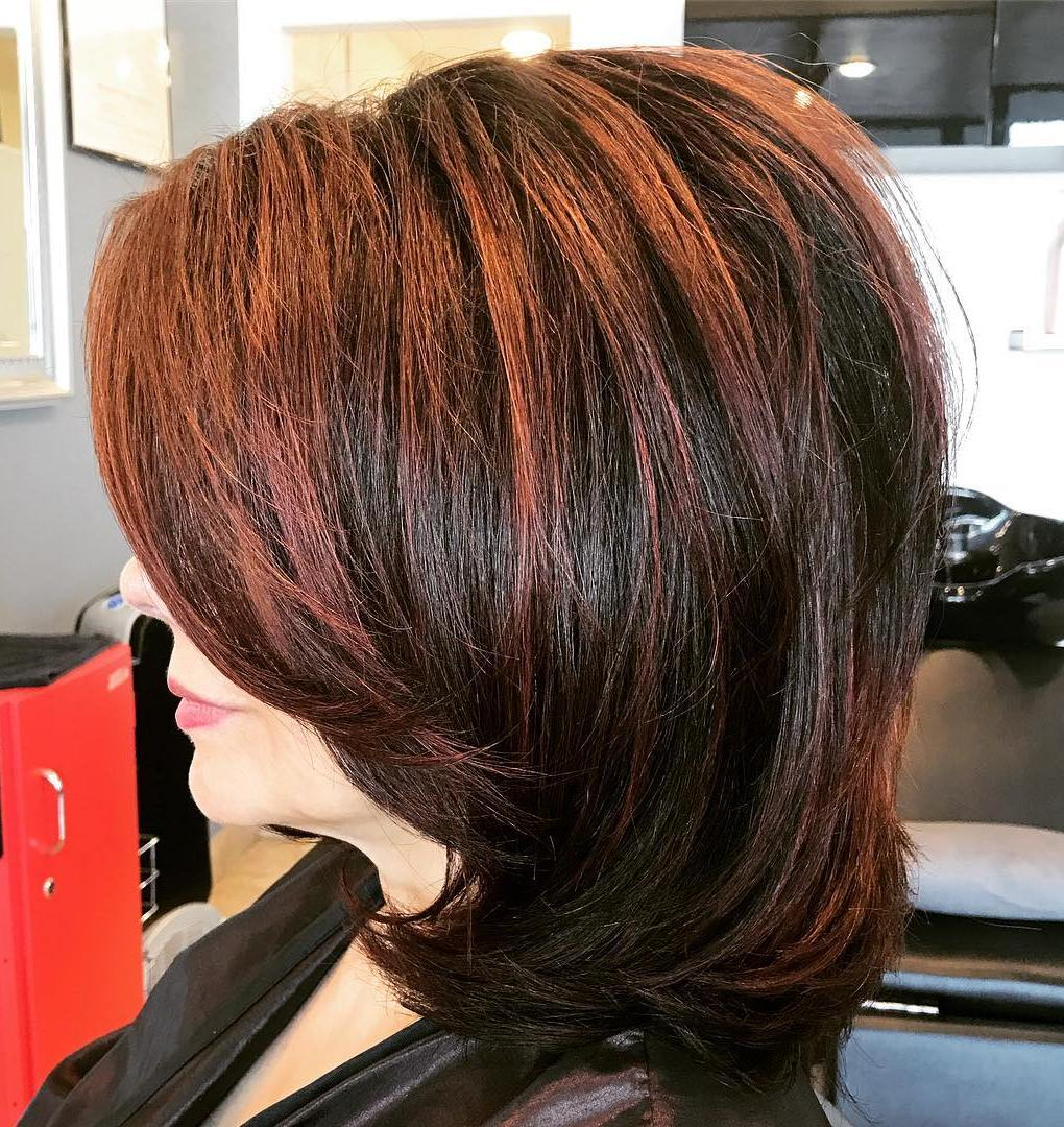 Medium Black Cut with Copper Highlights