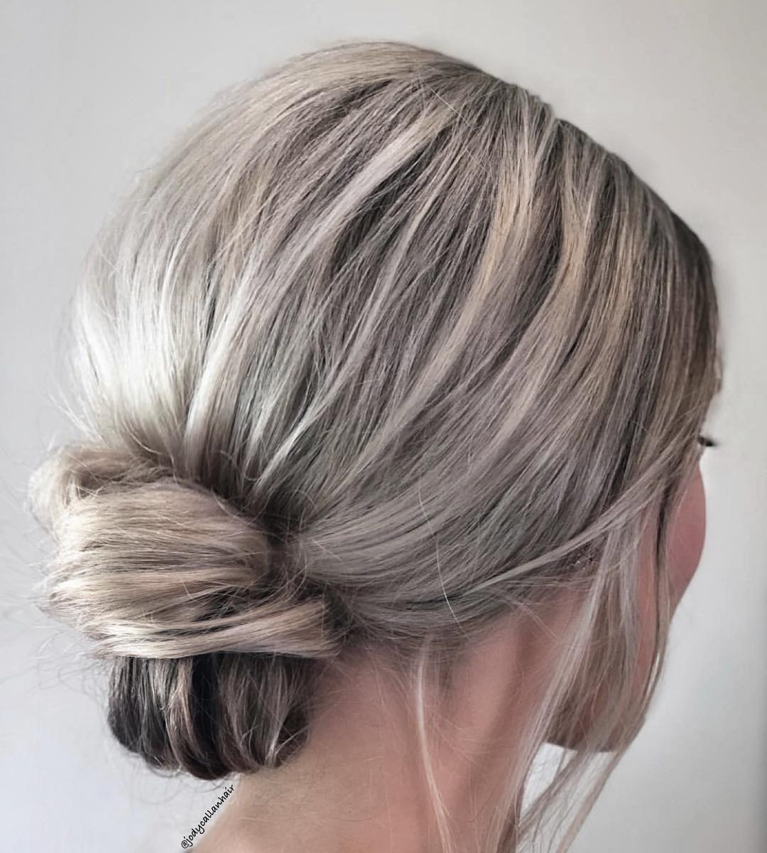 Classy Low Knot Updo