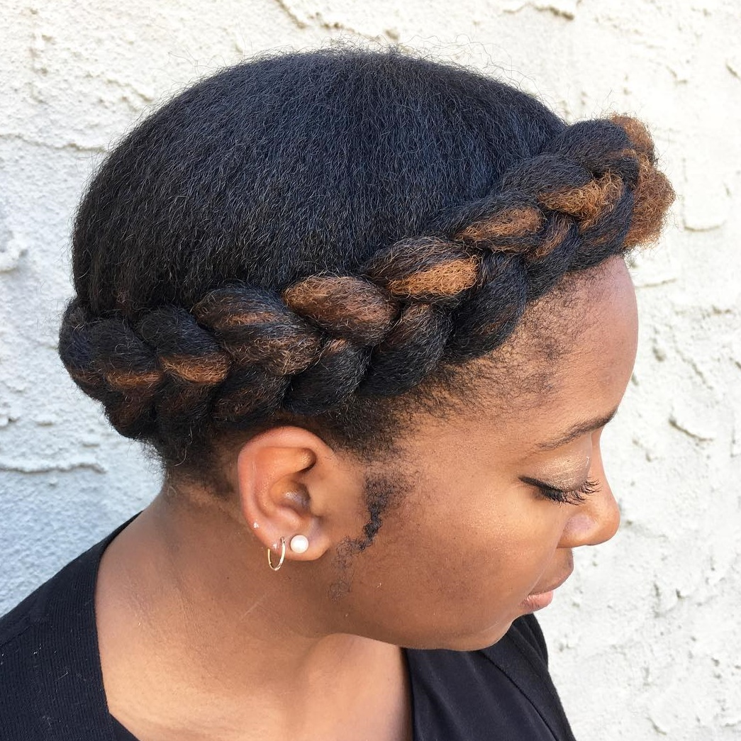 Halo Braid Updo for Natural Hair