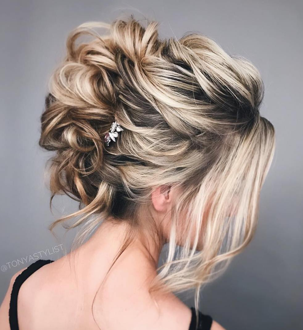 Messy Updo for Mid-Length Hair
