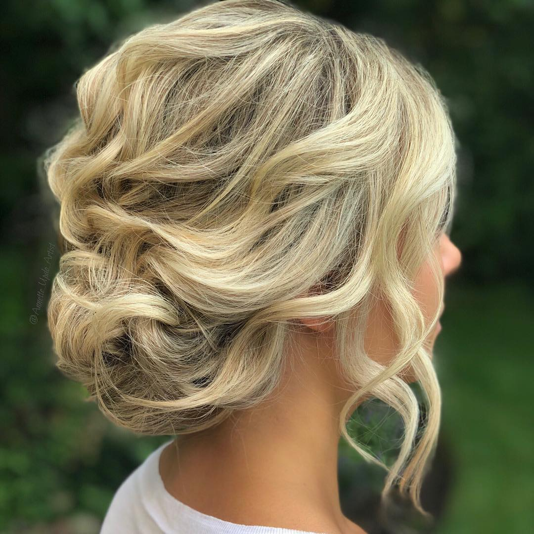 Soft Updo with Waves