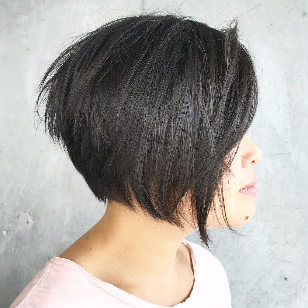 Angled Bob with Choppy Layers