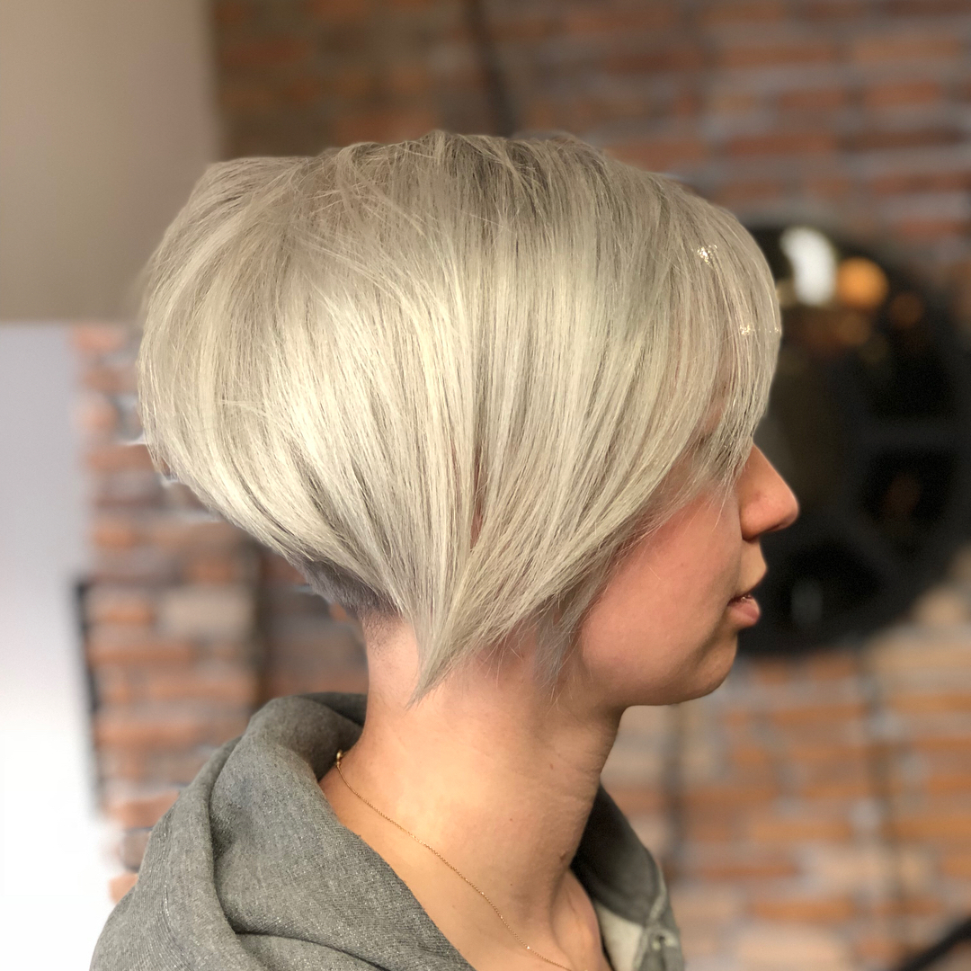 Undercut Pixie Bob with Bangs