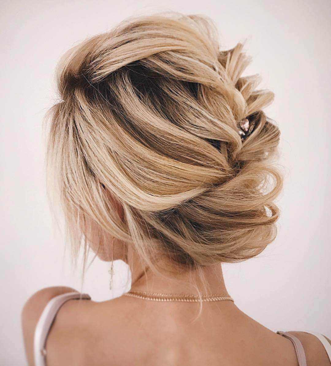 Loose Braid and Wrap Updo