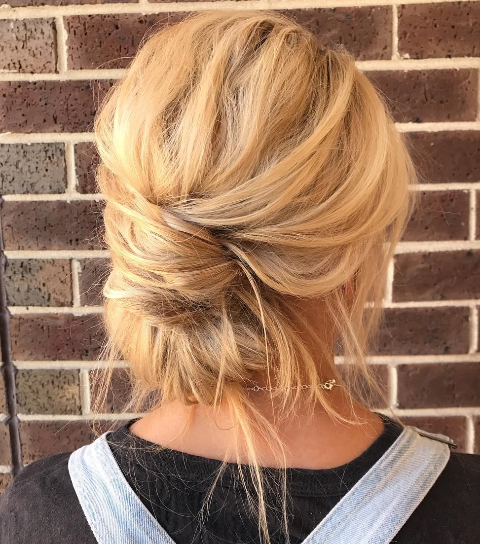 Effortless Messy Chignon Updo