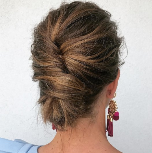 Loose Messy French Twist