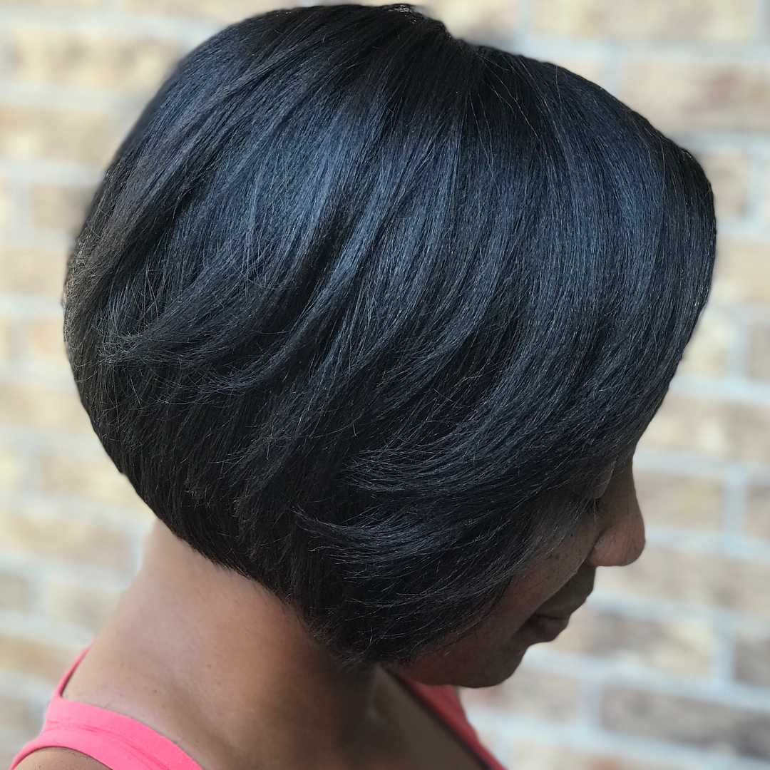 Neat Layered Black Bob