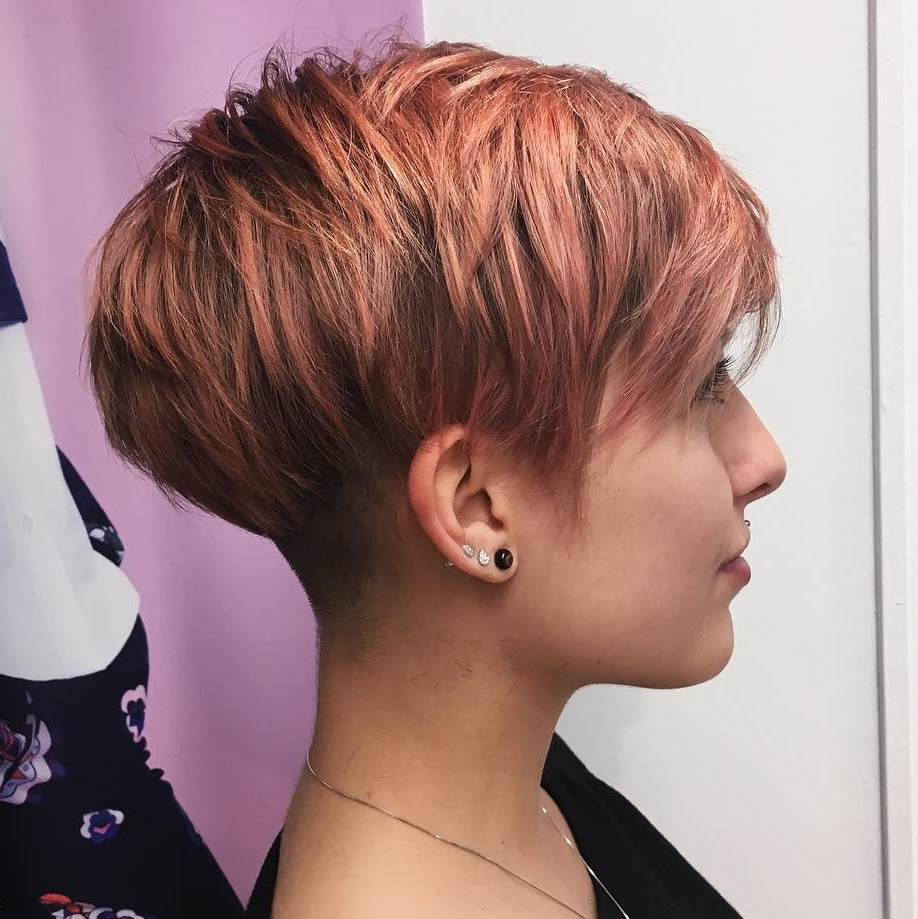 Rose Gold Pixie with Nape Undercut