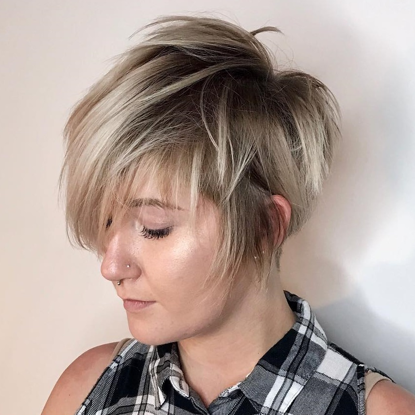 Long Choppy Shaggy Pixie Cut