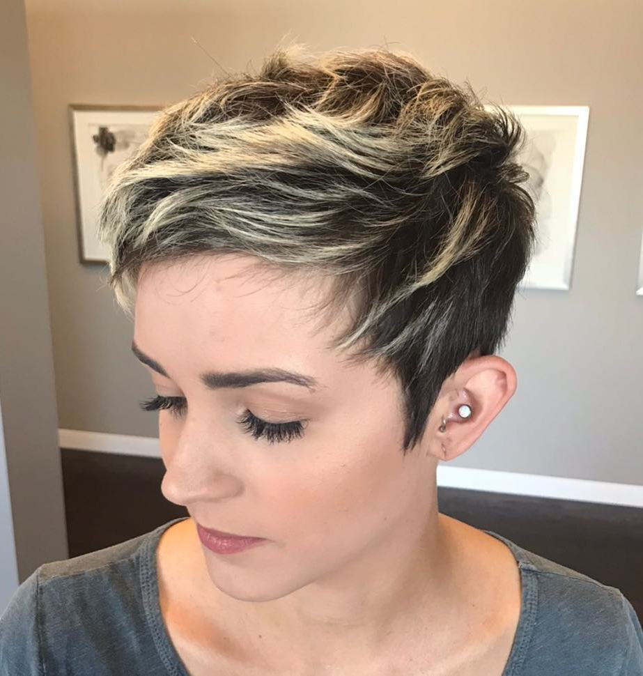 Razored Pixie with Highlights